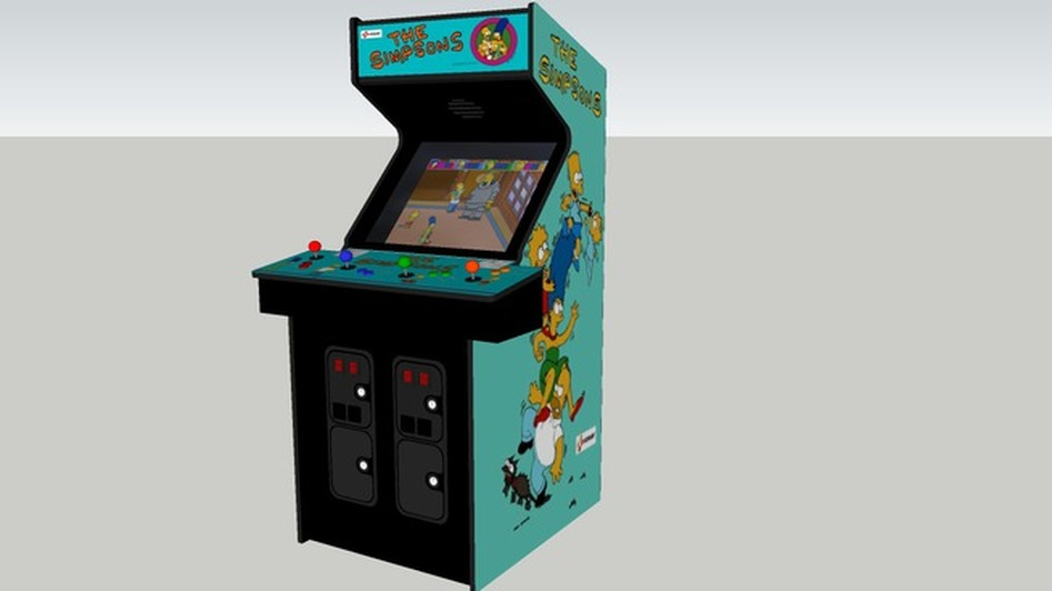 Newest update to a 4-player Konami cabinet now is accurate to within .5 . Coin doors by xylosesame. Best fit on all arts. by Gozer. & Simpsons - CLASSIC ARCADE CABINETS